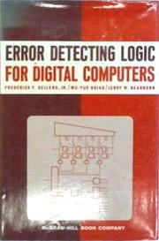 Error detecting logic for digital computers