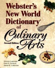 Cover of: Webster's new world dictionary of culinary arts