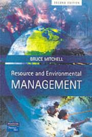 Cover of: Resource and environmental management