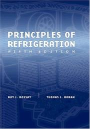 Cover of: Principles of refrigeration