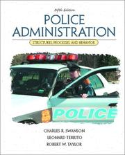 Cover of: Police administration | Charles R. Swanson