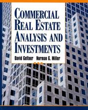 Cover of: Commercial Real Estate Analysis and Investments | David M. Geltner