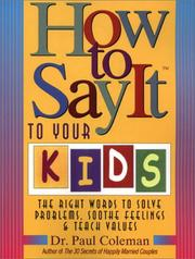 Cover of: How to Say It to Your Kids