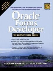 Cover of: Oracle Forms Developer | Benjamin Rosenzweig