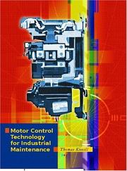 Cover of: Motor Control Technology for Industrial Maintenance