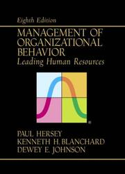 Management of organizational behavior by Paul Hersey
