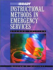 Cover of: Instructional Methods in Emergency Services (2nd Edition) | William D. McClincy