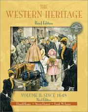 Cover of: The Western Heritage, Volume II
