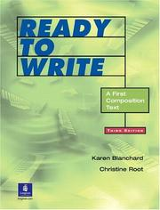 Cover of: Ready to write: a first composition text