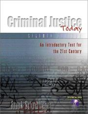 Cover of: Criminal Justice Today: an introductory text for the twenty-first century