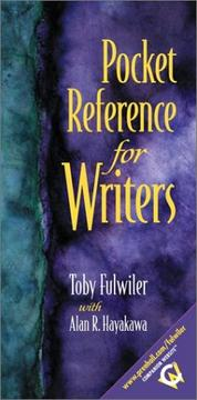 Cover of: Pocket Reference for Writers with APA Updates | Toby Fulwiler