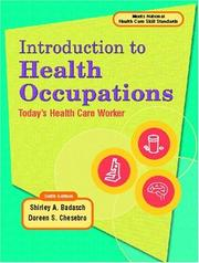 Cover of: Introduction to Health Occupation | Shirley A. Badasch
