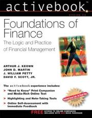 Cover of: Foundations of Finance ActiveBook