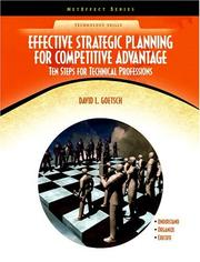 Cover of: Effective Strategic Planning for Competitive Advantage | David L. Goetsch