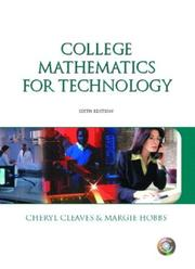 Cover of: College mathematics for technology