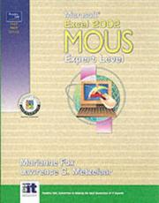Cover of: Microsoft Excel 2002 MOUS Expert Level (Prentice Hall Test Prep Series) | Marianne Fox