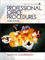 Cover of: Professional Office Procedures (3rd Edition) | Susan H. Cooperman