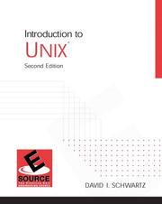 Cover of: Introduction to UNIX