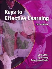 Cover of: Keys to effective learning | Carol Carter