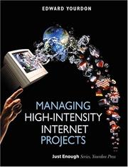 Cover of: Managing high-intensity Internet projects