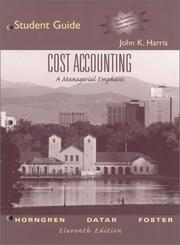 Cover of: Cost Accounting | John K. Harris