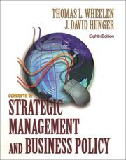 Cover of: Concepts of Strategic Management