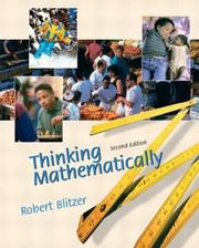 Cover of: Thinking Mathematically (2nd Edition) | Robert F. Blitzer
