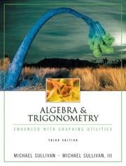Cover of: Algebra & trigonometry | Michael Sullivan