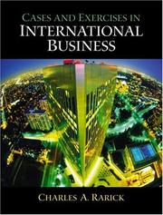 International Business by Charles A. Rarick, Charles Rarick