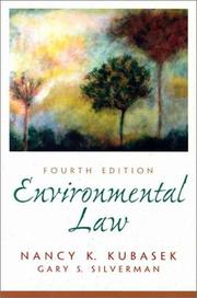 Cover of: Environmental law