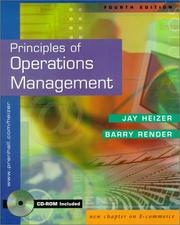 Cover of: Principles of Operations Management (With CD-ROM) Package/Shrinkwrap | Jay Heizer