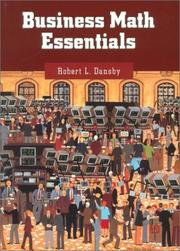 Cover of: Business math essentials