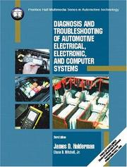 Cover of: Diagnosis and troubleshooting of automotive electrical, electronic, and computer systems