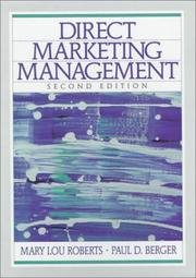 Cover of: Direct Marketing Management (2nd Edition) | Mary Lou Roberts