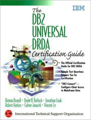 Cover of: DB2 Universal DRDA Certification Guide, The | Roman Brandl