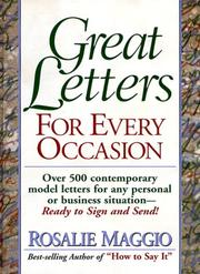 Cover of: Great letters for every occasion | Rosalie Maggio