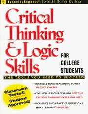 Cover of: Critical Thinking and Logic Skills for College Students | LearningExpress Editors