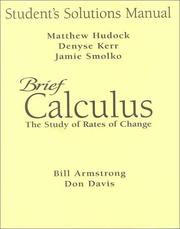 Cover of: Brief Calculus | Bill Armstrong