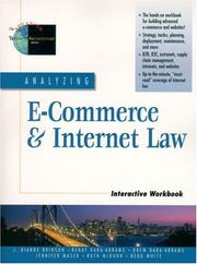 Cover of: Analyzing e-commerce & internet law |