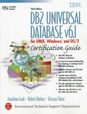 Cover of: DB2 Universal Database v6.1 for UNIX, Windows, and OS/2 certification guide | Jonathan Cook