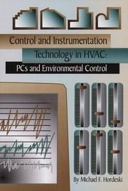 Cover of: Control and Instrumentation Technology in HVAC | Michael Hordeski