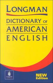 Cover of: Longman Dictionary of American English (2nd Edition) |