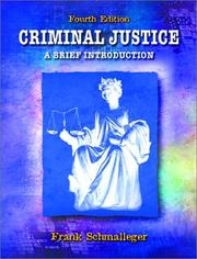 Cover of: Criminal Justice | Frank Schmalleger