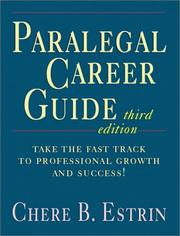 Cover of: Paralegal career guide