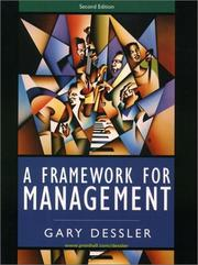 Cover of: A Framework for Management