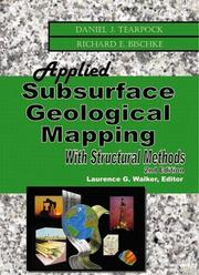 Cover of: Applied subsurface geological mapping by Daniel J. Tearpock