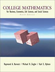 Cover of: College mathematics for business, economics, life sciences, and social sciences
