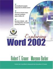 Cover of: Exploring Microsoft Word 2002 Comprehensive