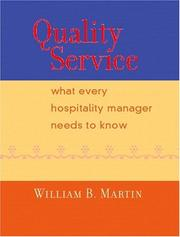 Cover of: Quality Service | William B. Martin