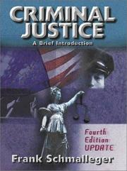 Cover of: Criminal Justice: A Brief Introduction